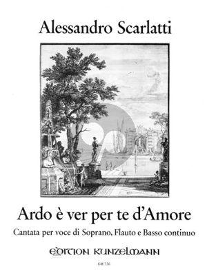 Scarlatti Ardo e ver per d'amore Sopran-Flöte-Bc