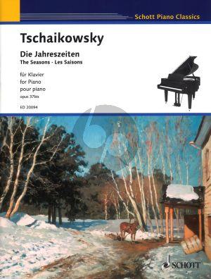 Tchaikovsky Die Jahreszeiten / The Seasons Opus 37bis Piano Solo