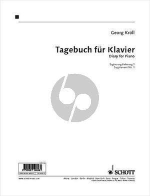 Kroll Tagebuch (The Diary) Klavier Ergänzungslieferung 1
