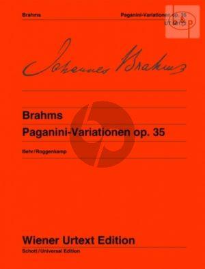 Brahms Paganini Variationen Op.35 Klavier (Behr-Roggenkamp) (Wiener-Urtext)