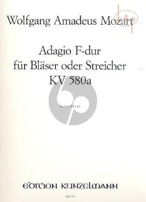 Adagio F-dur KV 580a (Blaser oder Streicher)