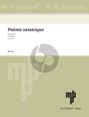 Scriabin Poeme Satanique Op. 36 Klavier