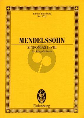 Mendelssohn Sinfonias for Strings No.1 - 8 (String Orchestra) Study Score (Eulenburg)