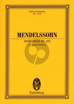 Mendelssohn Sinfonias for Strings No.9 - 12 (String Orchestra) Study Score (Eulenburg)