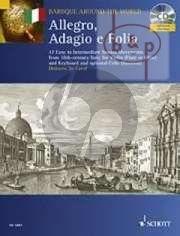 Allegro-Adagio e Folia (17 Easy to Interm. Sonata Movements from 18th.Cent. Italy) (Violin[Fl./Ob.]-Bc