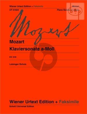 Sonate a-minor KV 310 (300d) (Leisinger-Scholz) (Wiener-Urtext)