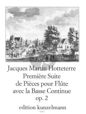 Hotteterre Premier Suite de Pieces Op. 2 Flöte und Bc (Paul M. Douglas)