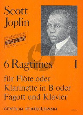 6 Ragtimes Vol.1 Flöte-Klavier