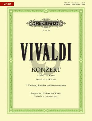 Vivaldi Concerto a-minor RV 522 Op.3 No.8 2 Violins-Piano (edited by Rudolf Eller)