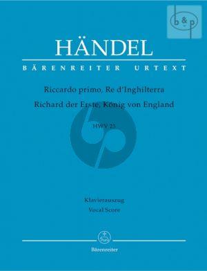 Riccardo primo, Re d'Inghilterra (HWV 23) (Vocal Score)