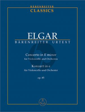 Elgar Concerto e-minor Op. 85 Violoncello and Orchestra Study Score (edited by Jonathan Del Mar) (Barenreiter-Urtext)