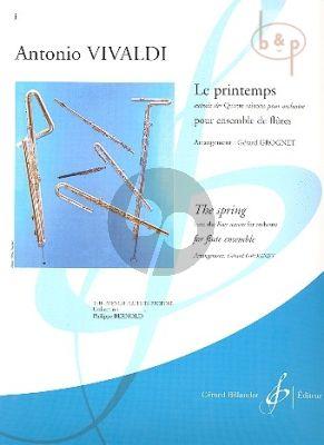 Printemps (from the 4 Seasons) (Flute Solo- 2 Flutes-Alto Flute-Bass Flute) (Score/Parts)
