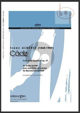 Cadiz (from Suite Espanola Op.47) (2 Trp.[Flugelhorn]-Horn[F]-Euph.-Tuba) (Score/Parts)