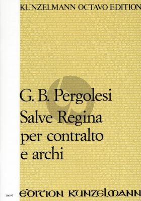 Pergolesi Salve Regina f-moll Contralto mit Streichorchester und Bc (Partitur) (Gábor Darvas)