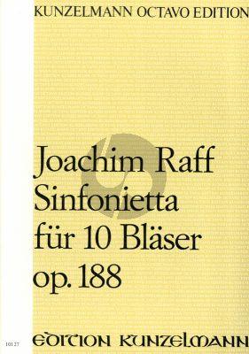 Raff Sinfonietta Op. 188 10 Bläser (Partitur)