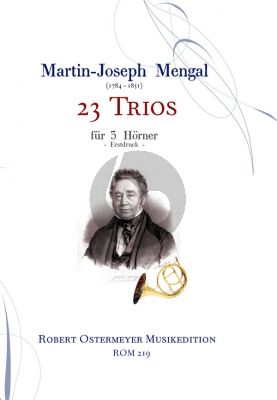 Mengal 23 Trios for 3 Horns (Score/Parts) (Ostermeyer)