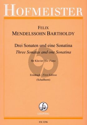 3 Sonatas (a-minor-e-minor-f-minor) and a Sonatina (E-major)