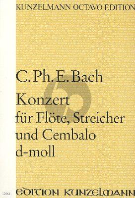 Bach Konzert D-moll Flöte-Streicher-Bc Partitur (Janos Malina)