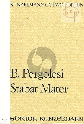 Stabat Mater Sopran-Alt-Streichorchester Partitur