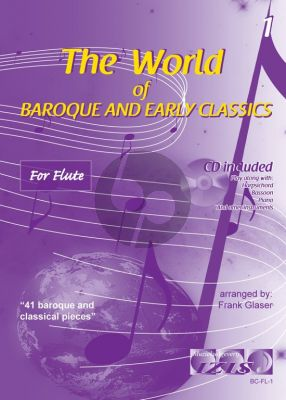 The World of Baroque and Early Classics Vol.1 for Flute (Bk-Cd) (Frank Glaser)