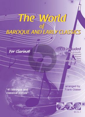 The World of Baroque and Early Classics Vol.1 for Clarinet (Bk-Cd) (arr. Frank Glaser)