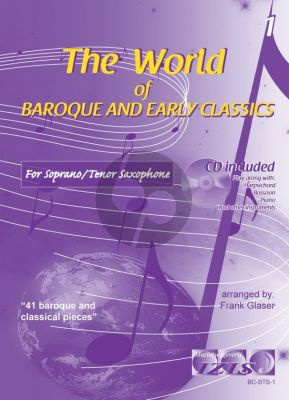 The World of Baroque and Early Classics Vol.1 for Soprano or Tenor Saxophone (Bk-Cd) (arr. Frank Glaser)