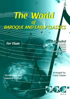 The World of Baroque and Early Classics Vol.2 for Flute (Bk-Cd) (arr. Frank Glaser)