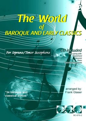 The World of Baroque and Early Classics Vol. 2 Soprano or Tenor Saxophone (Bk-Cd) (arr. Frank Glaser)