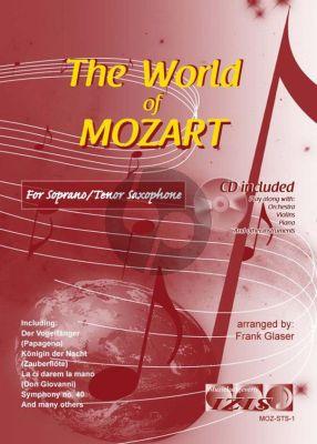 The World of Mozart for Soprano or Tenor Saxophone (Bk-Cd) (arr. Frank Glaser)