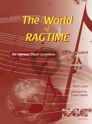 The World of Ragtime for Soprano or Tenor Saxophone (Bk-Cd) (arr. Frank Glaser)