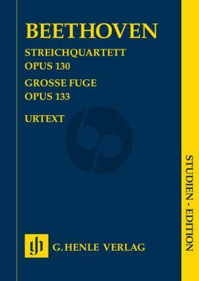 Beethoven Streichquartet Op.130 and Grosse Fuge Op.133 (String Quartet) (Study Score) (Henle-Urtext)