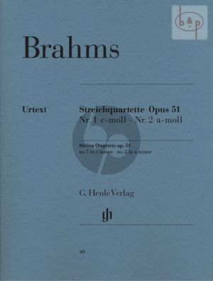 Quartets Op.51 No.1 - 2 (c-minor/a-minor) 2 Vi.-Va.-Vc. (Parts)