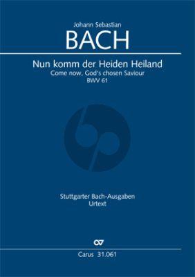 Bach Kantate BWV 61 Nun komm, der Heiden Heiland (KA) (deutsch/englisch)