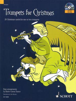 Trumpets for Christmas (20 Christmas Carols) (1 - 2 Trumpets) (easy arr. by B.Carson Turner) (Bk-Cd)