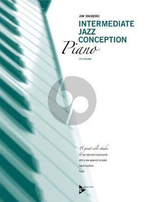 Snidero Intermediate Jazz Conception Piano ( (15 Solo Etudes for Jazz Style and Improvisation) (Bk-Cd)