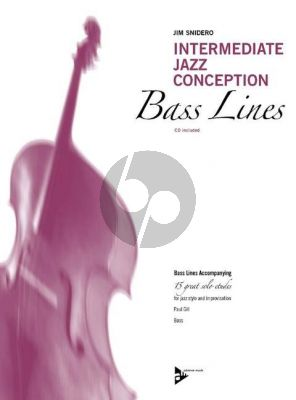 Snidero Intermediate Jazz Conception Bass Lines (15 Solo Etudes for Jazz Style and Improvisation) (Bk-Cd)