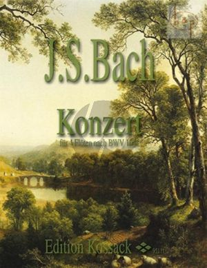 Bach Concerto (after Concerto a-minor violin BWV 1041) 4 Flutes (Score/Parts) (Kossack)