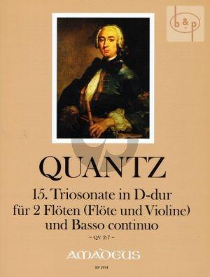 Triosonate D-major QV2:7 (2 Flutes[Fl.-Vi.]-Bc)