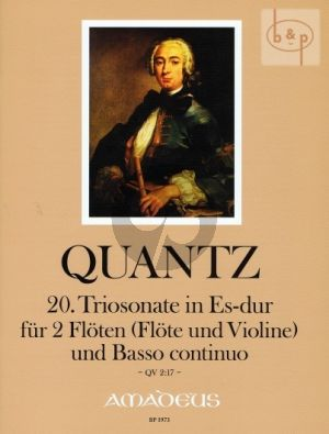 Triosonate E-flat major QV2:17 (2 Flutes[Fl.-Vi.-Bc)