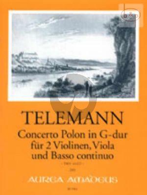 Concerto Polon G-major TWV 43:G7 (2 Vi.-Va.-Bc)