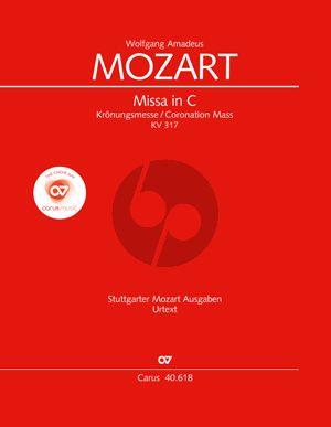 Mozart Kronungsmesse KV 317 SATB soli-SATB-Orchester Partitur (Ulrich Leisinger)