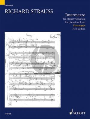Strauss Intermezzo F-dur TRV 138 (1885) Piano 4 Hds (edited by Christian Wolf) (first edition)