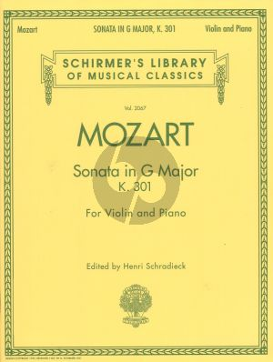 Mozart Sonata G-major KV 301 Violin and Piano (Schradieck)