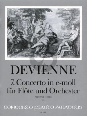 Devienne Concerto No.7 e-minor Flute and Orchestra (Full Score) (edited by Rien de Reede)