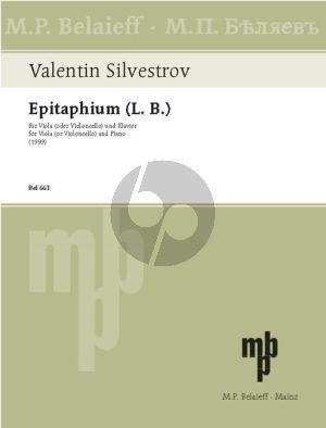 Silvestrov Epitaphium (L.B.) Viola (Vc.)-Piano (interm.-adv.)