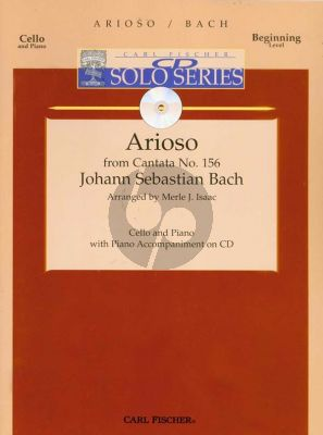 Bach Arioso (Cantata no.156) (Violoncello-Piano) (Book with Play-Along CD) (beginning level)