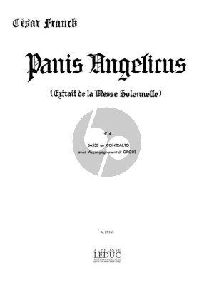 Franck Panis Angelicus pour Voix Basse ou Contralto et Orgue