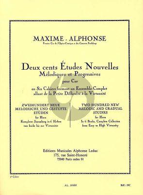 Alphonse 200 Etudes NouvellesMelodiques Vol. 5 pour Cor (20 Etudes tres Difficiles)