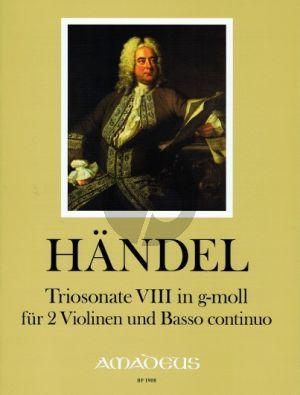 Handel Triosonate Op.2 No.8 g-minor HWV 393 2 Violins and Bc (edited by Andreas Kohn)