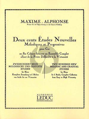 Alphonse 200 Etudes Nouvelles Melodiques Vol. 6 pour Cor (10 grandes études nouvelles virtuosité)